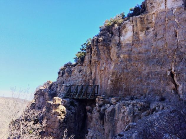Bridge on Guadalupe Peak Trail