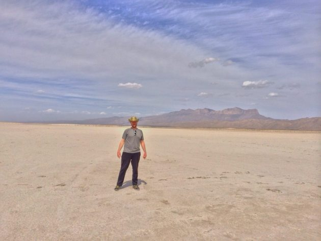 Me in the Chihuahua salt flats