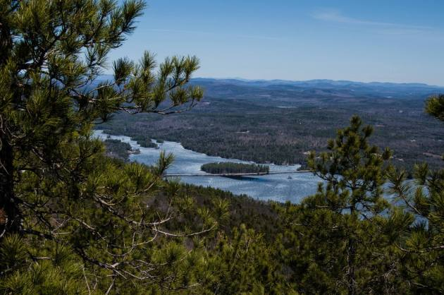 Route 302 and Moose Lake from North Peak