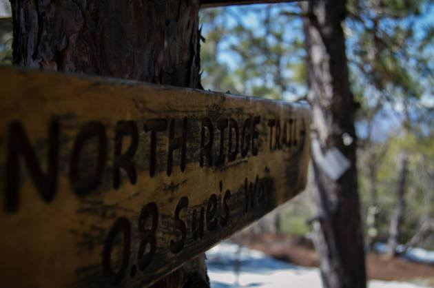 North Ridge Trail sign