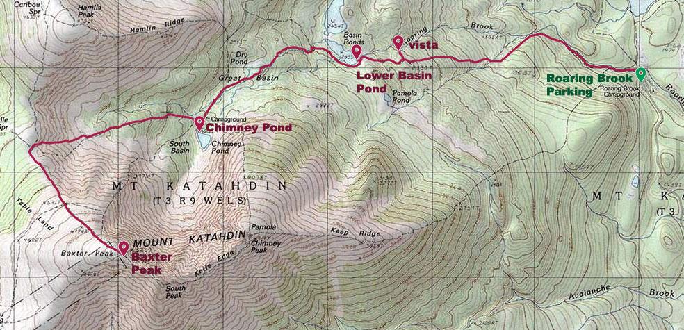 Hike Baxter Peak Maine Wanderlust - Mt katahdin trail map