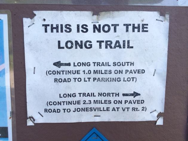 This is NOT the Long Trail
