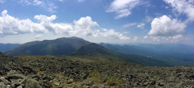 Looking ahead from Mount Jefferson