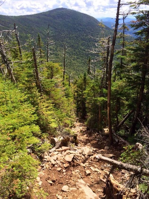 Descent from Hancock North Peak