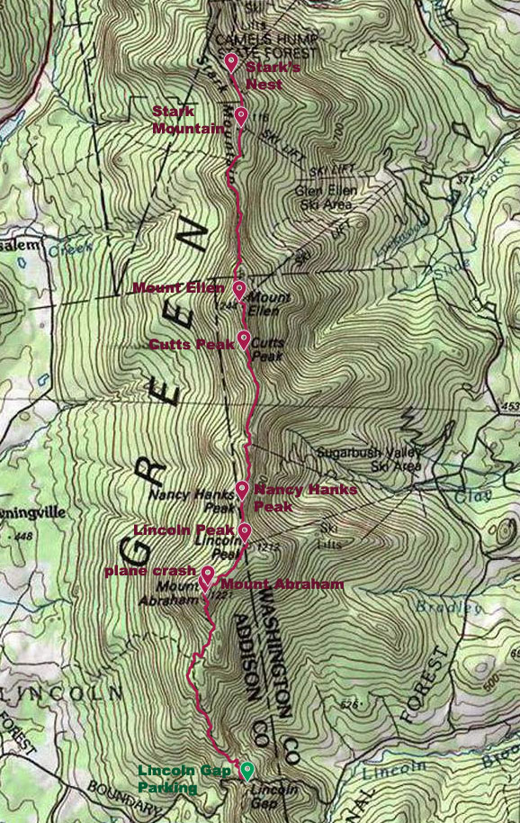 Map of Hike - Day 1