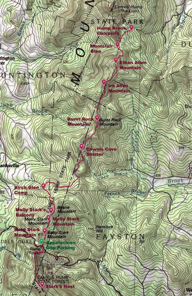Map of Hike - Day 2