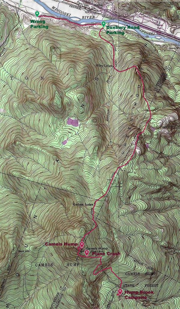 Map of Hike - Day 3