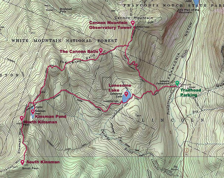 Hike: Kinsmans-Cannon Loop | Maine Wanderlust on burke mountain trail map, kennesaw mountain battlefield trail map, gunstock trail map, mt. hood meadows trail map, mount wachusett hiking trail map, mt. bachelor trail map, sugar mountain trail map, cannon mtn new hampshire, hunter mountain trail map, mount adams washington trail map, mt. mansfield trail map, mount monadnock hiking trails map, wachusett mountain trail map, black mountain trail map, sno mountain trail map, cannon ski trail map, chugach state park trail map, jay peak trail map, mcintyre trail map, kennesaw mountain park trail map,