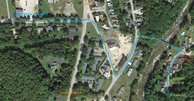 parkParking Map for Mount Moriah hike, Gorham, New Hampshireing map for moriah hike