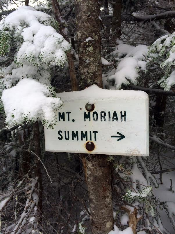 Mount Moriah Summit Sign