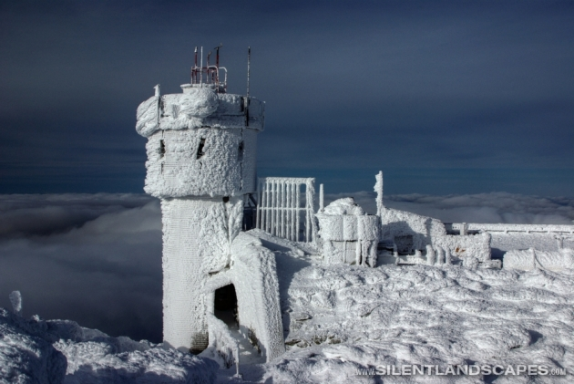 Mount Washington Observatory in Winter, credit silentlandscapes.com