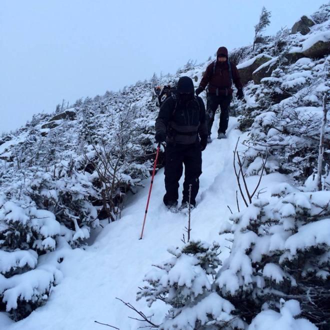 Heading down Kinsman Ridge Trail