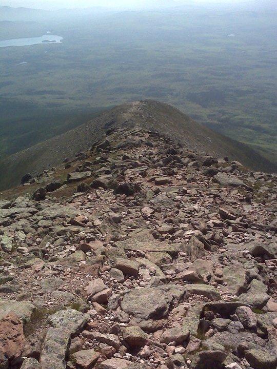 Looking down Keep Ridge