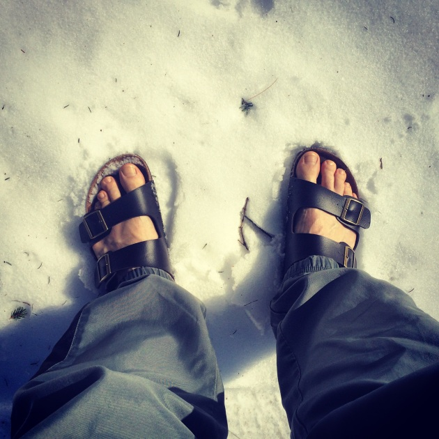 Sandal weather in New Hampshire