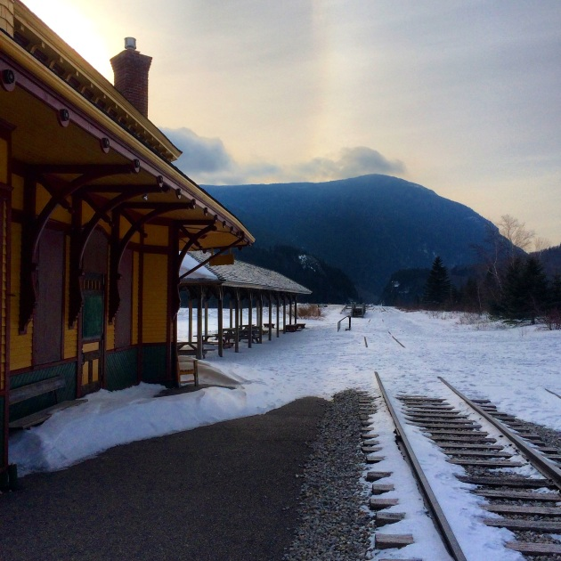 Crawford Depot, Mount Jackson and a sundog