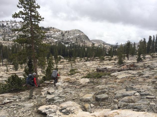 Granite domes above a bald granite landscape