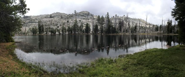 Lake with granite mountains