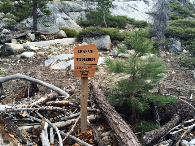 Sign for Emigrant Wilderness