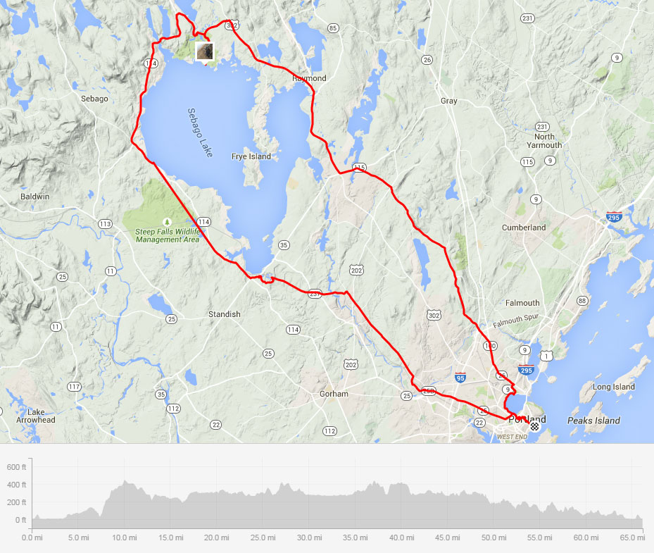 Cycling Sebago Lake Loop Maine Wanderlust