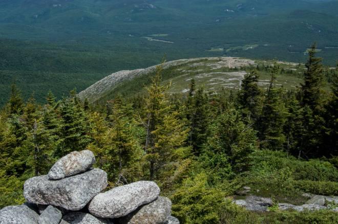 Trail climbing up mountain ridge