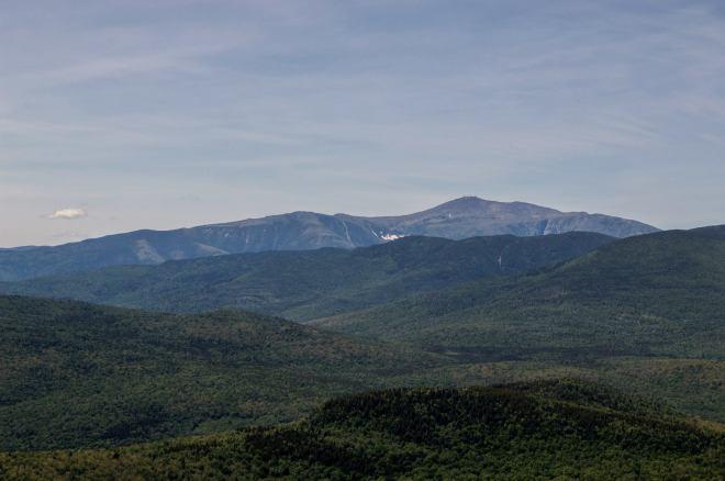 Large mountain on horizon