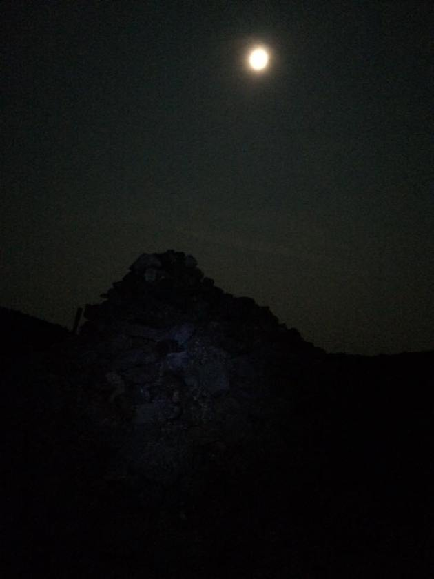 Rock pile under fill moon