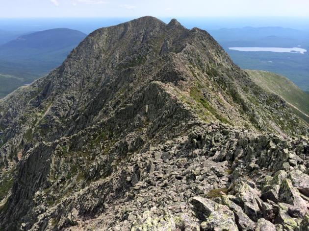 Steep ridge line and mountains