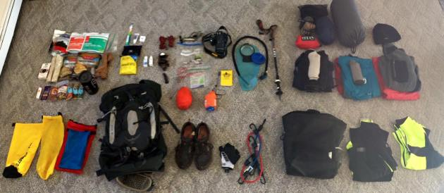 Hiking gear and clothes