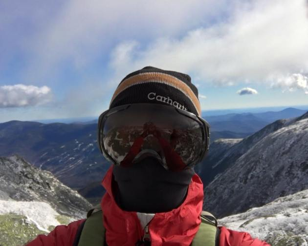 Man in winter gear and goggles
