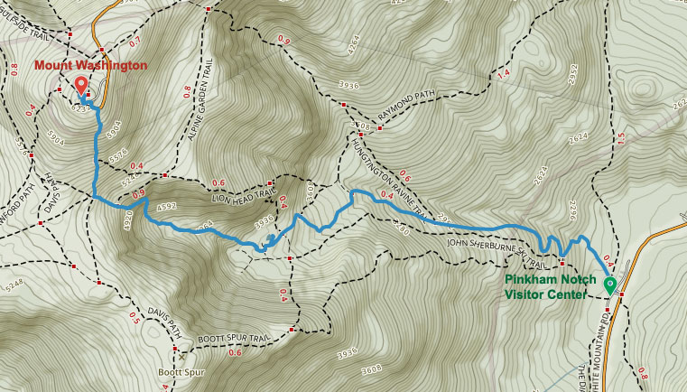 Jewell Trail Mt Washington Map.Hike Mount Washington Maine Wanderlust