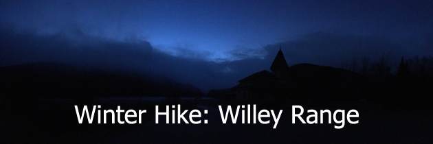 Winter hike of Willey Range