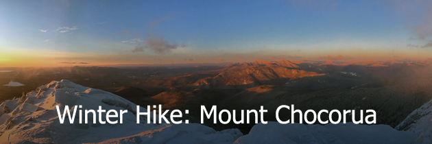 Winter hike of Mount Chocorua