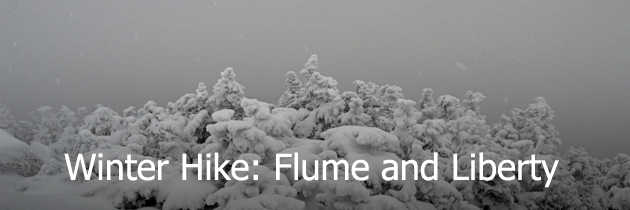 Winter hike of Flume and Liberty
