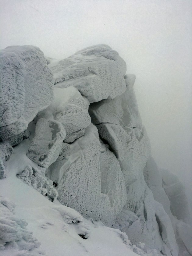 Frost covered rocks
