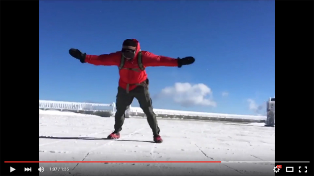 Video from Mount Washington Summit