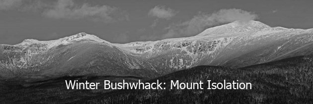 Winter bushwhack of Mount Isolation