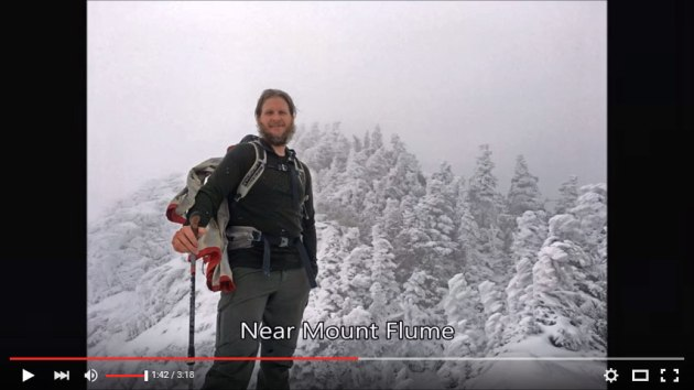 Video of Flume and Liberty winter hike