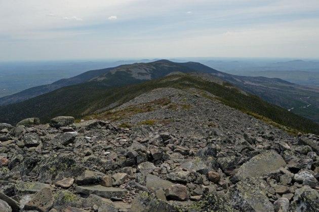 Talus covered alpine ridge