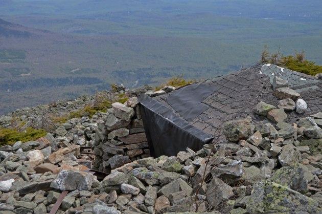 Stone hut on mountain top