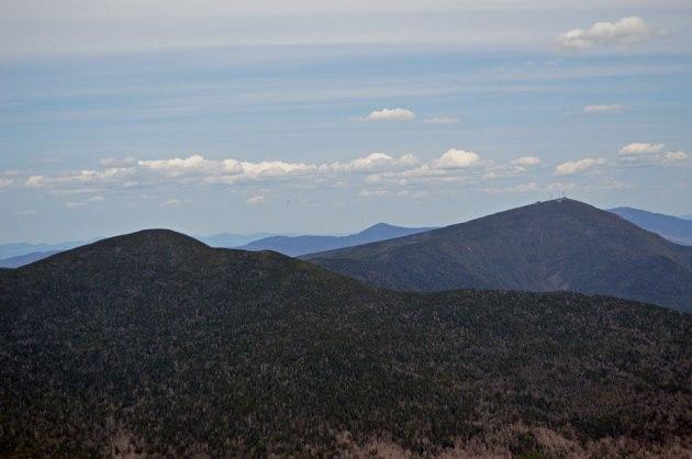 Mountain with radio antennas