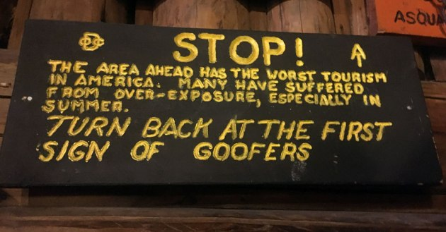 Turn back at the first sign of Goofers