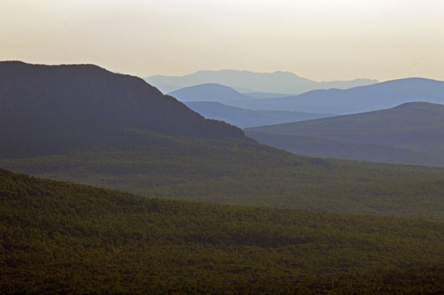 Layers of distant mountains