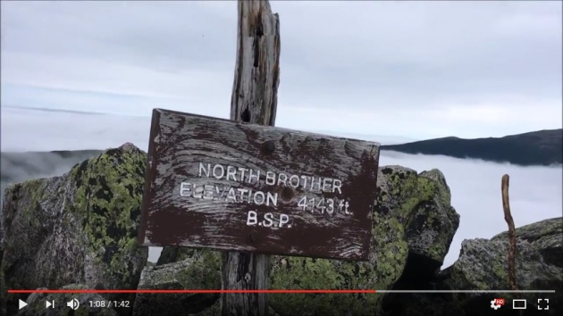 Video of North Brother hike