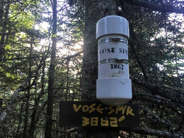 Canister and sign: Vose Spur 3862'