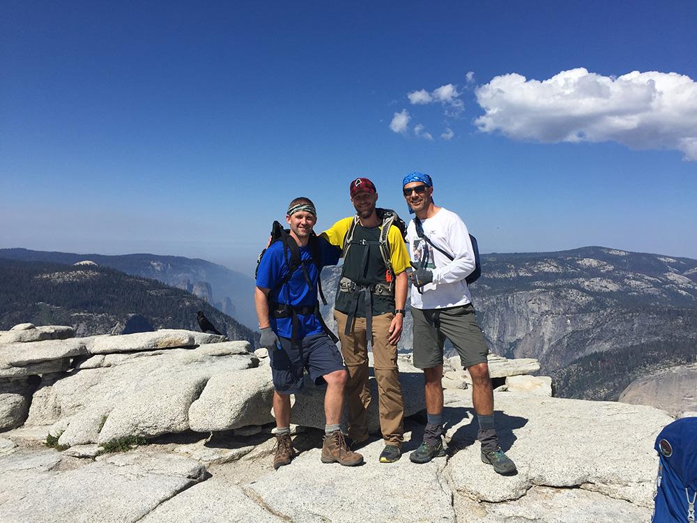 The crew on Half Dome
