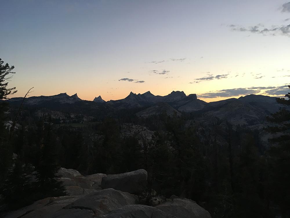 Sunrise over Cathedral Range