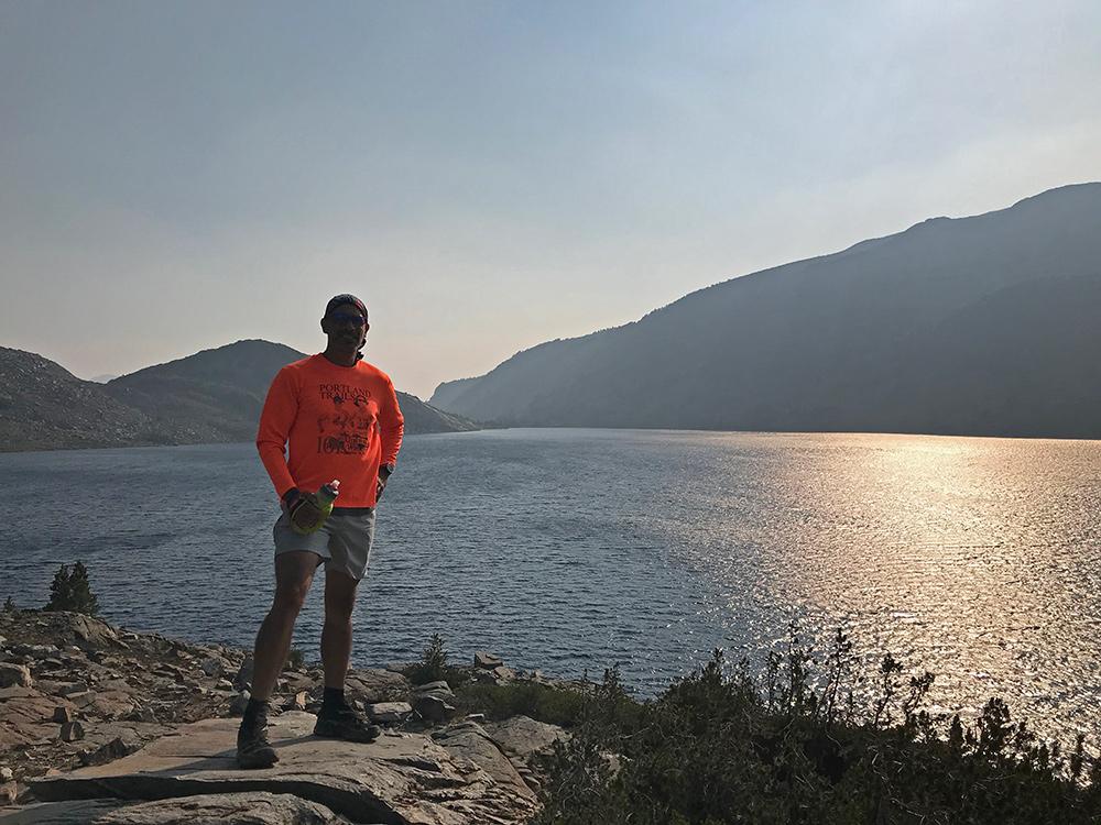Trail run with Michael near Duck Lake