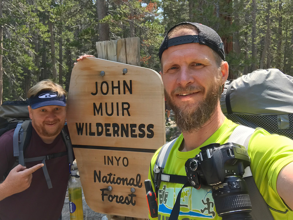 Brennan and me entering Muir Wilderness