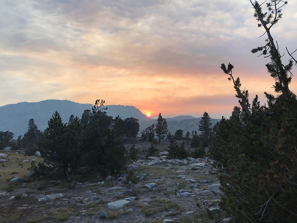Sunset over Duck Pass
