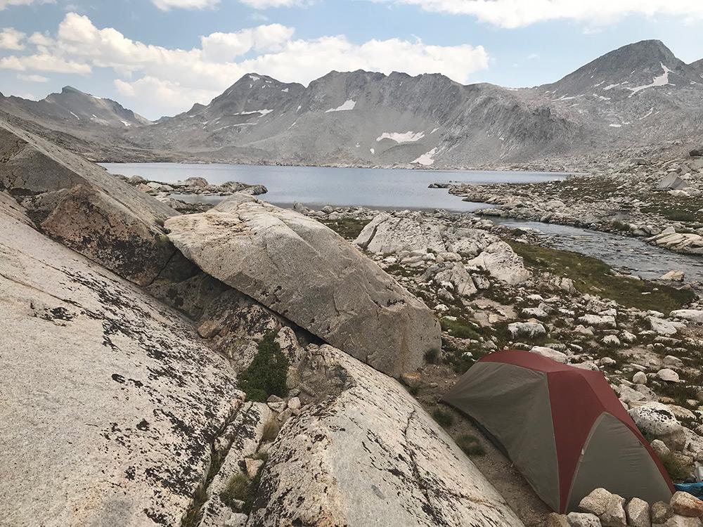 Campsite at Wanda Lake